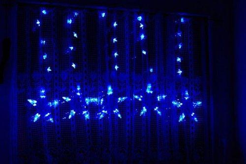 Blaue Weihnachtsbeleuchtung.Nipach 100er Led Lichterkette Sternenlichterkette Blau Testberichte De