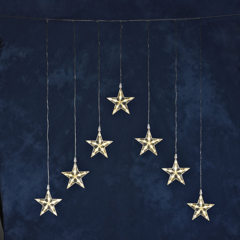 Konstsmide Weihnachtsbeleuchtung.Konstsmide 1243 103 Led Sternenvorhang Testberichte De