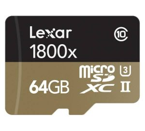Lexar Media Professional 1800x microSDXC UHS-II Kit 64GB