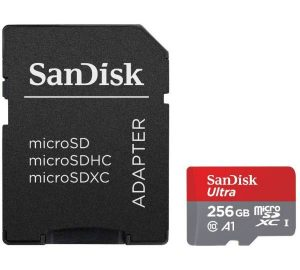 SanDisk Ultra microSDXC UHS-I A1 Kit 256GB