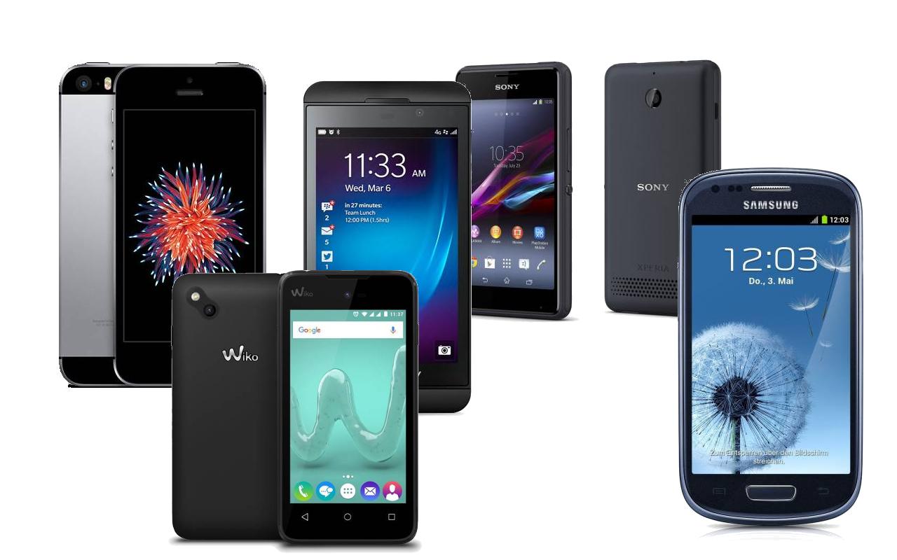 Smartphones Mit 4 Zoll Display