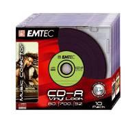 Emtec Cd R Vinyl Look 700 Mb 52x 10er Slim Test