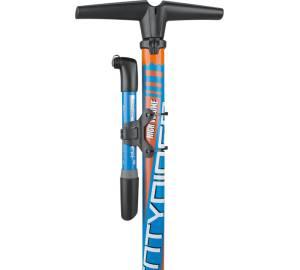 Topeak Mini Dual G Doppelhup Alu Fahrrad Luft Pumpe Mini alle Ventile Manometer