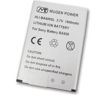 1500mAh Extended Battery for Sony Xperia U ST25i Produktbild