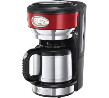 Retro Ribbon Red Thermo Kaffeemaschine Produktbild