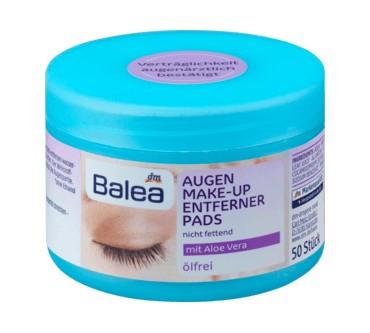 Gemeinsame dm / Balea Augen Make-up Entferner Pads (ölfrei) Test &DW_67