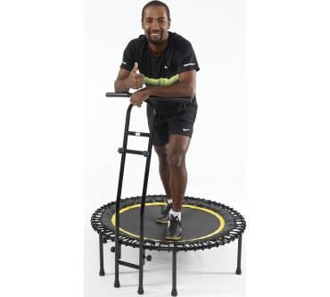Joka Fit Trampolin Cacau Indoor Fitnesstrampolin mit Griffstange schwarz weiß