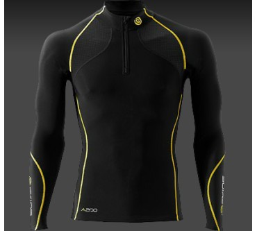 A200 Thermal Long Sleeve Compression Top with Zip Mock Neck Produktbild