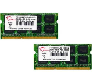 SQ Series 8GB DDR3-1333 Kit (F3-10666CL9D-8GBSQ) Produktbild