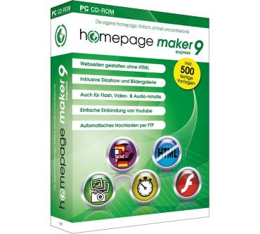 Homepage Maker 9 Express Produktbild
