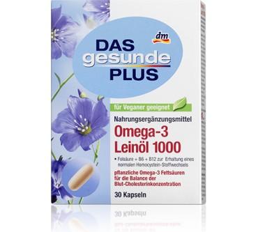 Dm Das Gesunde Plus Omega 3 Leinöl 1000 Kapseln Test