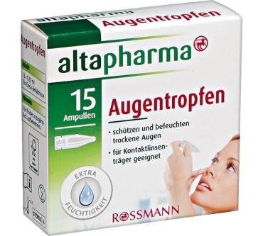 Rossmann Altapharma Augentropfen Im Test