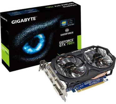 GeForce GTX 750 Ti WindForce 2X OC (1033MHz) Produktbild
