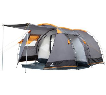 CAMPFEUER Tunnelzelt Familienzelt Campingzelt Zelt für 4 Personen grün 3000 mm