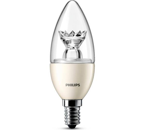 philips led kerze dimmbar 6w 40 w e14 test. Black Bedroom Furniture Sets. Home Design Ideas