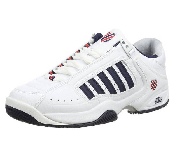 DEFIER RS - Multicourt-Schuh - white/dress blue/fiery red