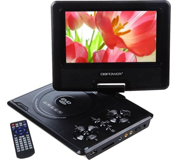 dbpower 7 5 tragbarer dvd player. Black Bedroom Furniture Sets. Home Design Ideas