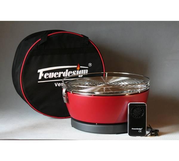 Rauchfreier Grill Feuerdesign Vesuvio Ø33cm weiss