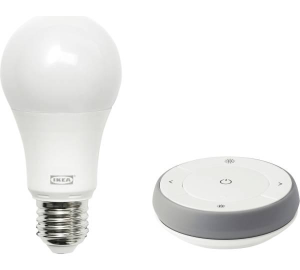 Ikea Trådfri Dimmer-Set, Farb- und Weißspektrum grau/weiß + Gateway ...