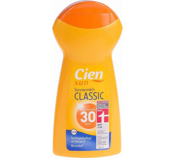 Lidl Cien Sun Sonnenmilch Classic Lsf 30 Test Testberichtede
