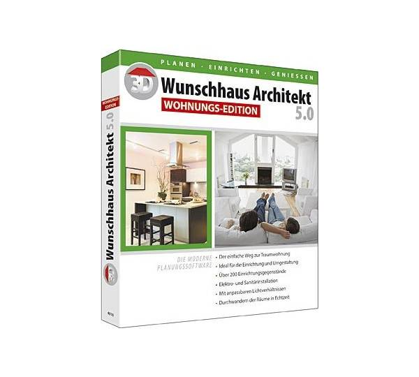 bhv 3d wunschhaus architekt 5 0 wohnungs edition test. Black Bedroom Furniture Sets. Home Design Ideas