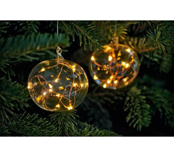 Krinner Lumix Light Ball L Christbaumkugel mit LED NEU