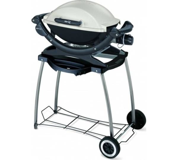 weber q 140 station mit rollwagen standard test elektrogrill. Black Bedroom Furniture Sets. Home Design Ideas