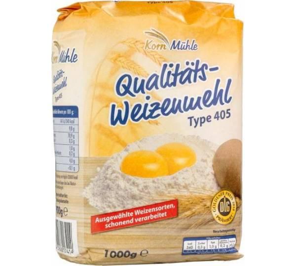 Netto Markendiscount / KornMühle Qualitäts-Weizenmehl Type