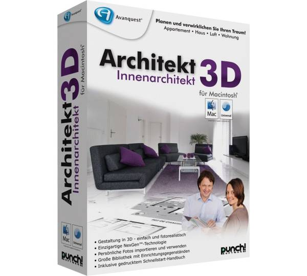 avanquest architekt 3d innenarchitekt f r mac test. Black Bedroom Furniture Sets. Home Design Ideas
