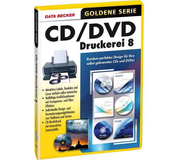 data becker cd/dvd druckerei 8 - testnote: gut (2,0), Einladung