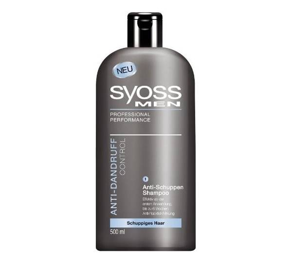 syoss men anti schuppen shampoo im test. Black Bedroom Furniture Sets. Home Design Ideas