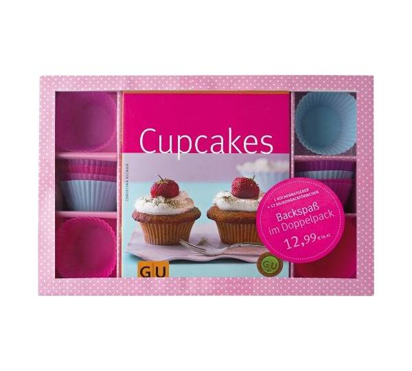 gr fe und unzer verlag gu cupcakes set backbuch 12 silikonbackf rmchen test. Black Bedroom Furniture Sets. Home Design Ideas