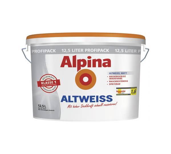 alpina altweiss im test. Black Bedroom Furniture Sets. Home Design Ideas