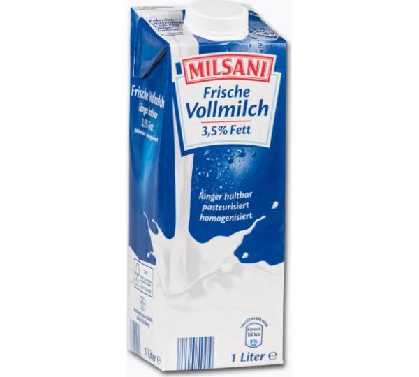 Aldi Nord / Milsani Frische Vollmilch 3,5% Fett Test