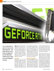 PC Games Hardware: Geforce RTX (Ausgabe: 11)