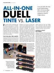 PCgo: All-in-One-Duell: Tinte vs. Laser (Ausgabe: 11)