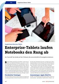 com! professional: Enterprise-Tablets laufen Notebooks den Rang ab (Ausgabe: 4)
