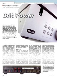 HiFi Test: Brit Power (Ausgabe: 5)