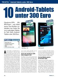 PC-WELT: 10 Android-Tablets unter 300 Euro (Ausgabe: 9)